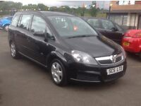 VAUXHALL zafira club 1.6 56 plate 89000 miles 7 SEATER black MOT ONE YEAR Free warranty