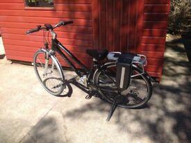 Giant hybrid E bike for sale.