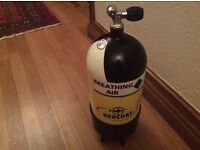12lt 232bar dumpy scuba cylinder. New, only used 3 times