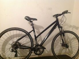 women's custom light aluminium disc break bicycle, looks and works like new