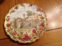 Royal Albert old country rose plate