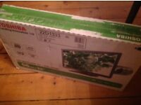"22"" Toshiba LED TV with built in DVD player, brand new in unopened box"
