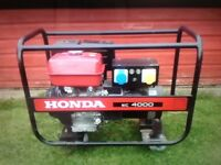 FOR SALE HONDA EC 4000 GENERATOR