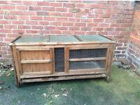 "Rabbit Hutch Good condition Length 5'(153cm) Height 2'6"" (76cm) Depth 2'2"" (66cm)"