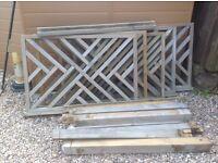 Chevron Timber Decking Panels
