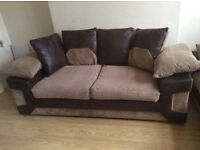 DYLAN RANGE 3 SEATER AND 2 SEATER SUEDE AND FABRIC SOFAS