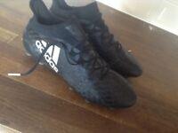 Adidas black X football boots