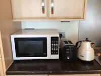 Microwave, toaster,kettle