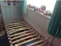 Girls Pink Bed Needs 3 Slats Replaced