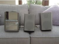 Panasonic stereo system multi changer CD player tape and radio player