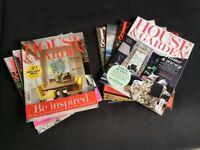 24 x House and Garden magazines (Jan 16 - Jan 17, exc Jan 17)