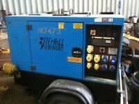 STEPHILL MOBILE DIESEL GENERATOR 11KVA ON FAST TOW TRAILER