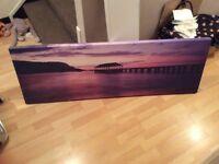 Large purple canvas