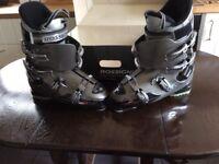Mens Ski Boots. Rossingnol. Pure Mountain Company. EXALT X 8. Metal Grey. Size 9 / 9.5 Wide Fit.