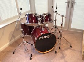 Sonor Force 3007 Maple Drum Kit in Red
