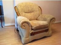 Armchair-Electric Recliner top Quality Fabric & solid wood