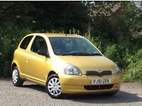 2001 Toyota Yaris 1.0 GLS Gold 3-door hatchback 12 months MOT