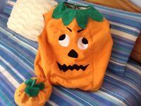 Child pumpkin fancy dress outfit