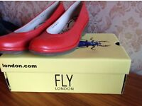 Fly of London red shoes - size 6