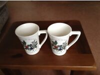 brand new Portmeirion Mugs Holly & Ivy pattern (2)