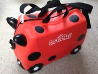 Trunki childrens red ladybird ride on suitcase hand luggage wheels