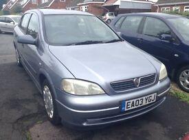 Vauxhall Astra 1.6 50,000 Miles
