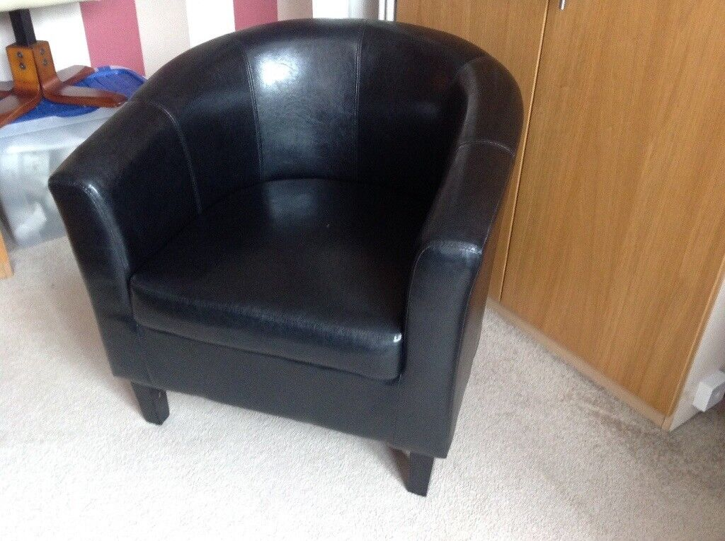 Small black Tub chair | in Kippax, West Yorkshire | Gumtree