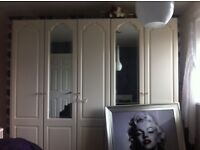 5 door wardrobe with matching drawers and bedside tables