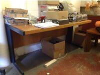 Computer desk. Metal frame.