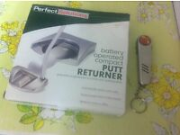 New perfect solutions battery operated compact putt returner + golfers multi tool