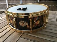 Remo 50th Anniversary Snare Drum (1957-2007)-with pin badge & Signed