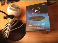 Elgato game capture hd60 and blue snowball microphone with filter