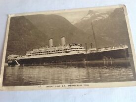 Vintage used postcard of SS Orford of the Orient Line 1937.