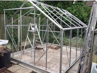 Dismantled 10X8 Greenhouse ready to go.