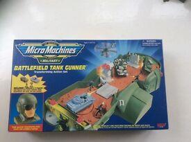 Micro Machines Military Battlefield Tank Gunner play set