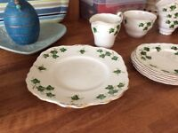 Set of colclough cups saucers plates milk jug sugar bowl