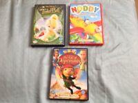 3 DVD's FEATURING CHILDREN'S GREAT FAVOURITES - TINKERBELL, NODDY & DESPEREAUX!