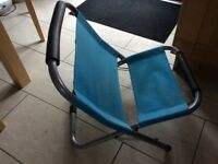 Blue camp chair