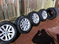 BMW 16 INCH ALLOYS SET OF 4 WITH TYRES