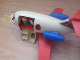 Fisher price toys wonderful condition aeroplane camper van with models