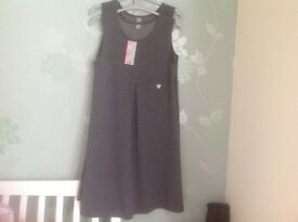 Pack of two girl's grey school pinafore