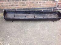 Large 6 foot long cast iron pig trough