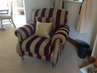 Traditional Three Piece suite 2 Chairs + 1 three seater sofa