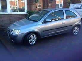 Vauxhall Corsa 1L silver 2004 3 dr 44659 miles