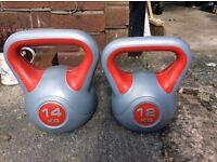 Body Power Vinyl Kettlebell Duo- 12kg and 14kg