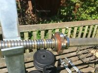 Bar Bell, rack and weight plates