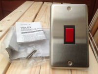 Volex 45 Amp Electric Cooker Switches Flat Plate x 2 (Brand New)