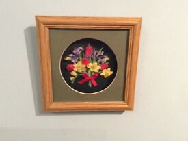 Framed Decoupage Picture