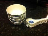 chinese bowls and china spoons