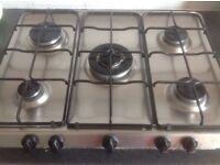 Indesit 5 burner gas hob, good working condition